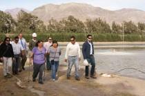 Vecinos afectados visitan piscinas de aguas servidas para conocer en terreno el procedimiento
