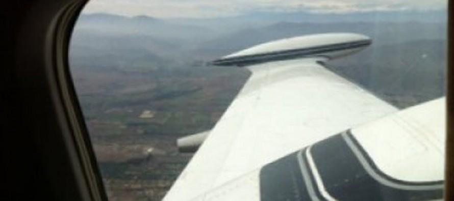 En sector de Puclaro se realiza primer vuelo de la avioneta para siembra de nubes