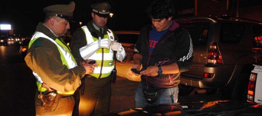 Un total de 3 personas fueron detenidas por infracción a la Ley Tolerancia Cero en Vicuña