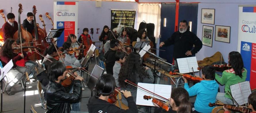 Niños de Paihuano y Pisco Elqui compartieron música con los profesores de la YOA