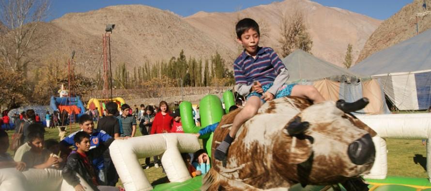 Niños y niñas de Vicuña y Paihuano celebraron su día con diversas actividades