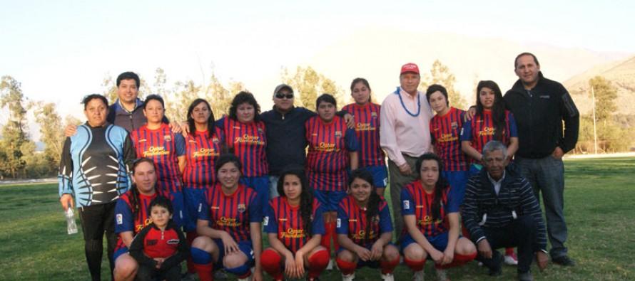 C.D Barrabases es el nuevo monarca del fútbol femenino en la comuna de Vicuña