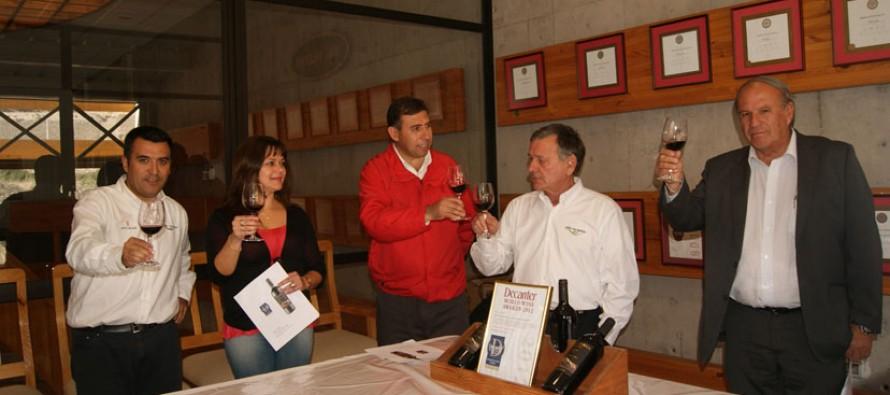 Destacan a vino de Viña Falernia que ocupó el quinto lugar en concurso realizado en Inglaterra