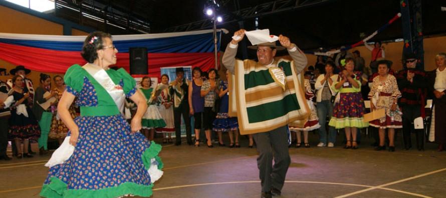 Pareja de Vicuña fue la ganadora del Campeonato Regional de Cueca del Adulto Mayor