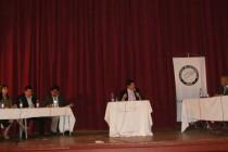 Guamán y Vera se enfrentaron en debate municipal organizado por el Colegio de Periodistas