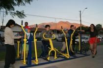 Incentivan el deporte masivo con la instalación de plazas ciudadanas en diversos sectores de Vicuña