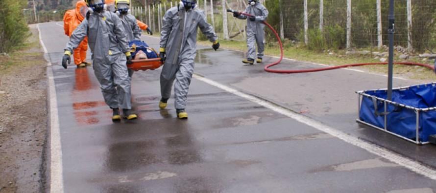 Como exitoso evalúan el simulacro de accidente ambiental y sanitario que comenzó en el Río Elqui