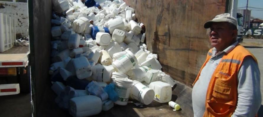 Incentivan la recolección de envases con triple lavado en Paihuano