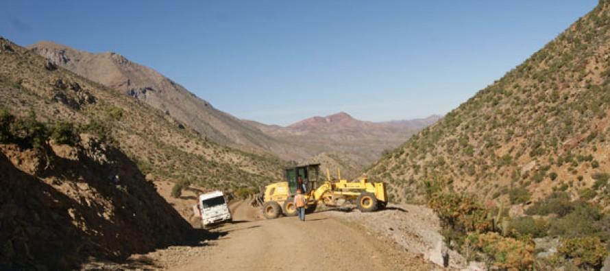 Invertirán 262 millones de pesos en mejoramiento de camino de la Ruta Antakari