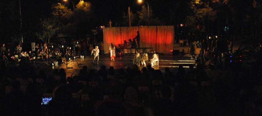 Liwén deleitó con danza y teatro al publico elquino