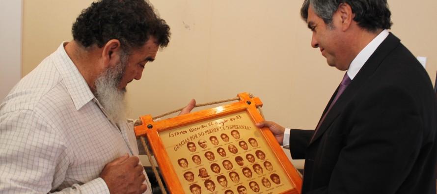 Jorge Galleguillos, uno de los 33 mineros, visitó el valle de Elqui para agradecer el apoyo