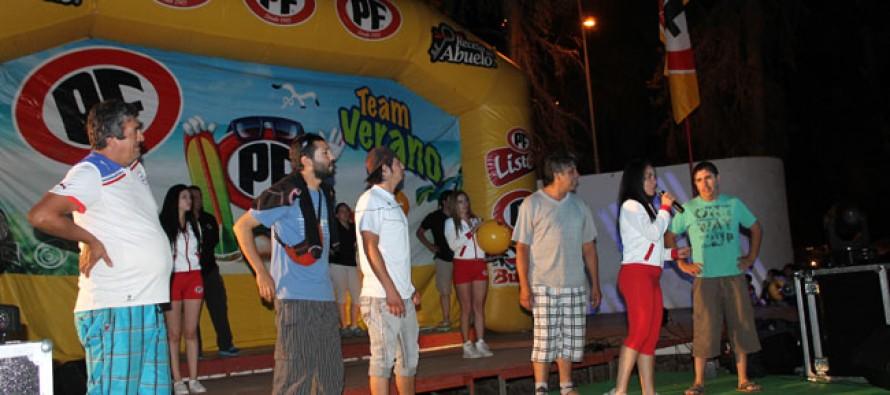 PF entregó diversión y premios al público vicuñense a través del Carnaval Elquino