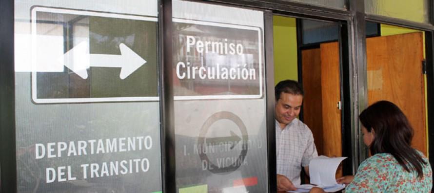 Extienden horarios para sacar el permiso de circulación 2013 en Vicuña