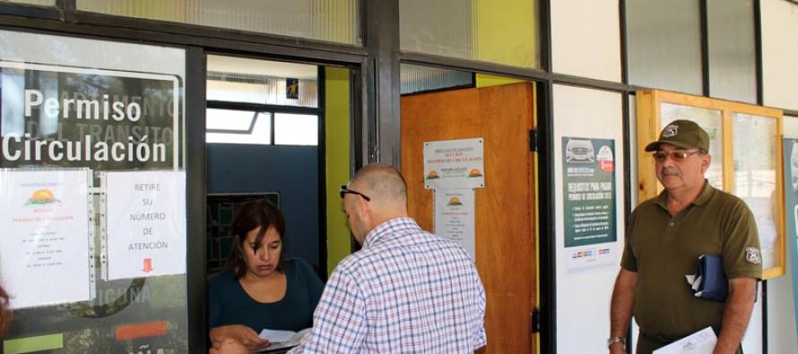 Dirección de Tránsito de Vicuña atenderá hasta el domingo 31 para los permisos de circulación