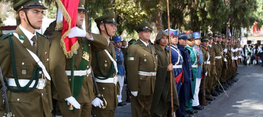 Vicuña homenajea a Carabineros a la espera de la instalación del Plan Cuadrante de Seguridad