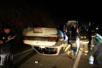 Volcamiento en sector de Puclaro deja a dos personas heridas