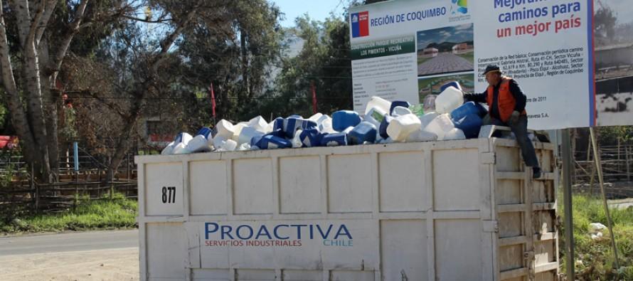 Exitosa campaña de recolección de envases de plaguicida se realizó en el valle del Elqui