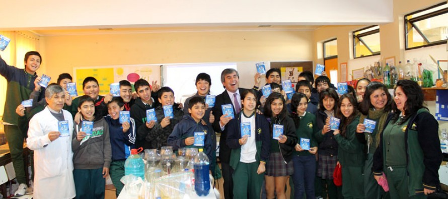 Incentivan el cuidado del agua a través de campaña en establecimientos educacionales