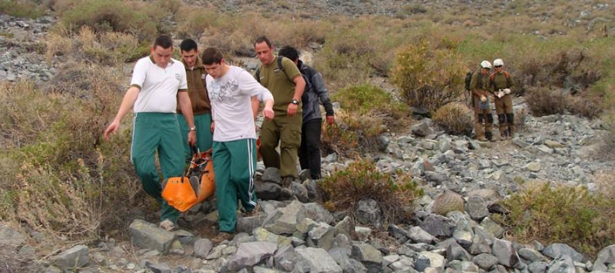 Luego de 30 horas de arduo trabajo fue rescatado montañista en Cerro Negro de Vicuña