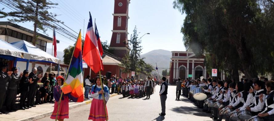 Estudiantes rinden un homenaje a Bernardo O´Higgins en aniversario 235 de su natalicio