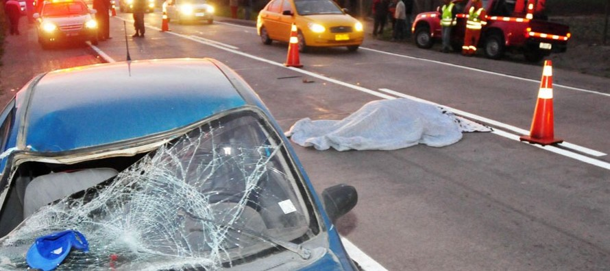 Fallece ciclista en la ruta D-41 al ser impactado por un automóvil en sector de Gabriela Mistral