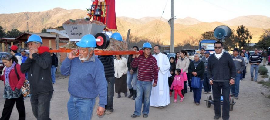 Mineros elquinos realzan la figura de San Lorenzo con fiesta patronal religiosa