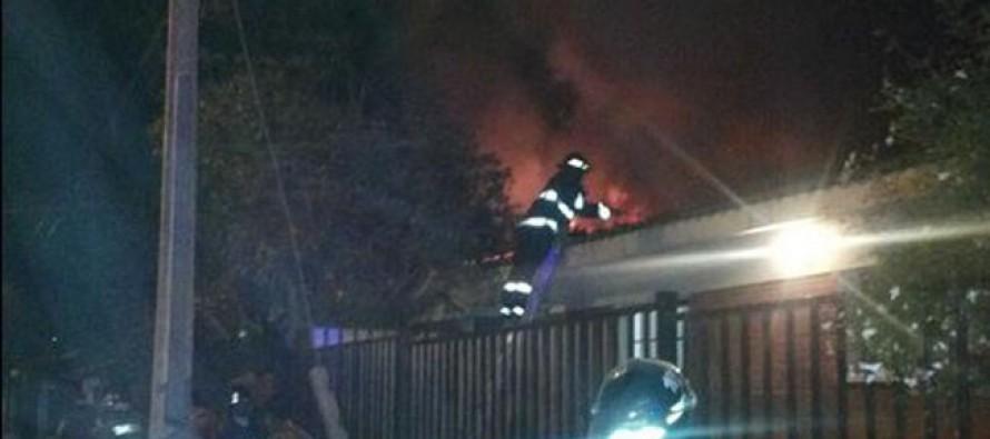 Producto de la caída de una vela se quemó vivienda en el centro de Vicuña