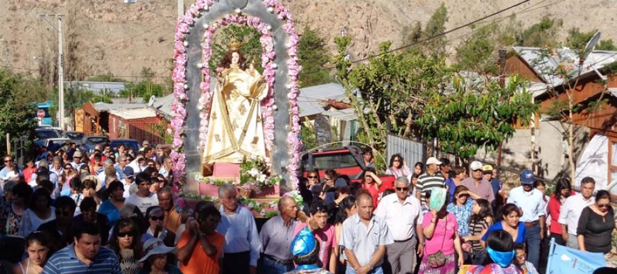 Vecinos y feligreses participaron de la tradicional fiesta religiosa de Pisco Elqui