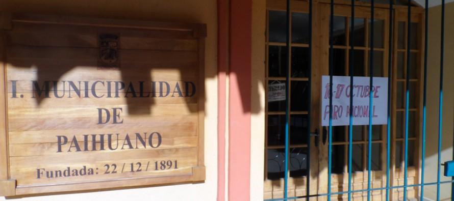 Municipalidad de Paihuano se adhiere al paro de la ASEMUCH por 48 horas