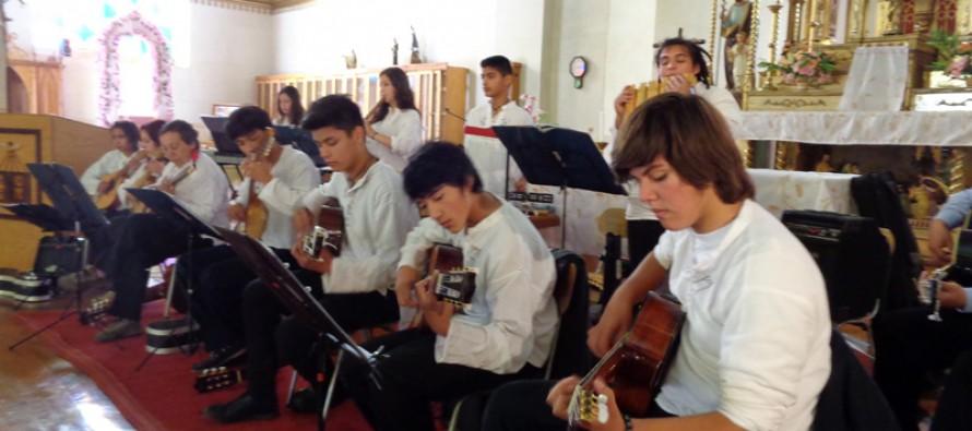 Orquesta Sinfónica de Putaendo se presentó ante un gran marco de público en Pisco Elqui