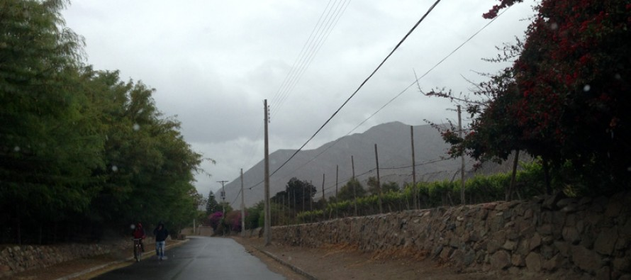 Lluvia dominical sorprendió al Valle del Elqui en plena primavera