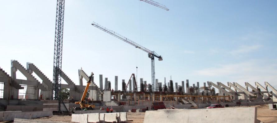 Un 42% de avance presenta la construcción del Estadio La Portada de La Serena