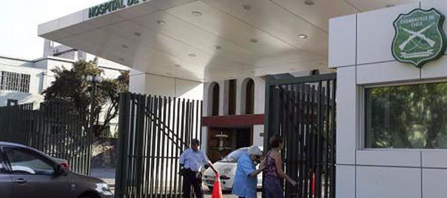 Al Hospital de Carabineros fue derivado efectivo policial que chocó en moto en Montegrande