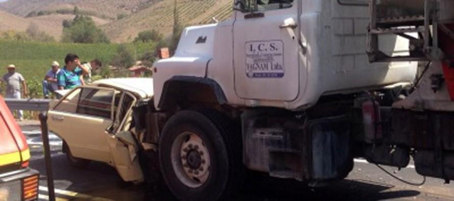 Lamentable accidente deja a una mujer fallecida en la Ruta Internacional en el sector de Diaguitas