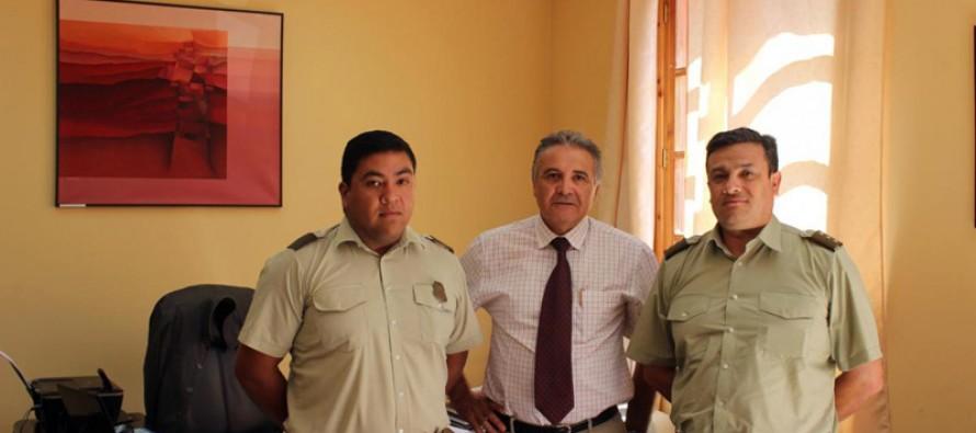 Analizan la seguridad en la comuna de Paihuano en una alianza entre Carabineros y municipio