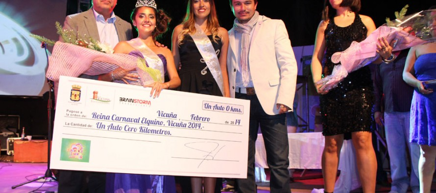 Con actuación de Douglas se coronó a María José Villalón como la reina del Carnaval Elquino