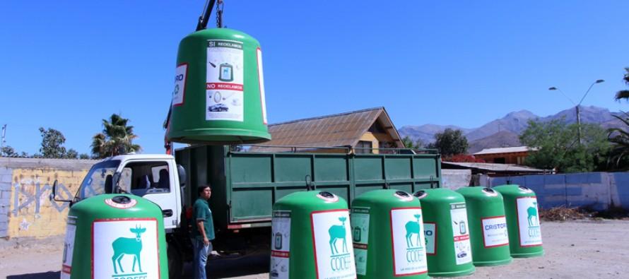 Un total de 9 campanas existen en la comuna de  Vicuña para el reciclaje de de vidrios