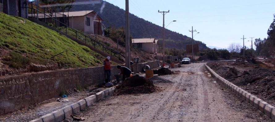 Un 80% de avance presenta proyecto de urbanización del sector La Calera-El Arrayán