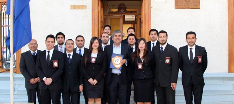 Destacan trabajo conjunto con municipio y policías de Vicuña en aniversario 81 de la PDI