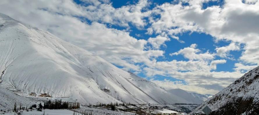 La nieve sorprendió al Valle del Elqui en este frente de mal tiempo