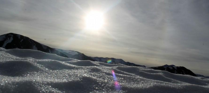 Cerro Las Tórtolas en invierno