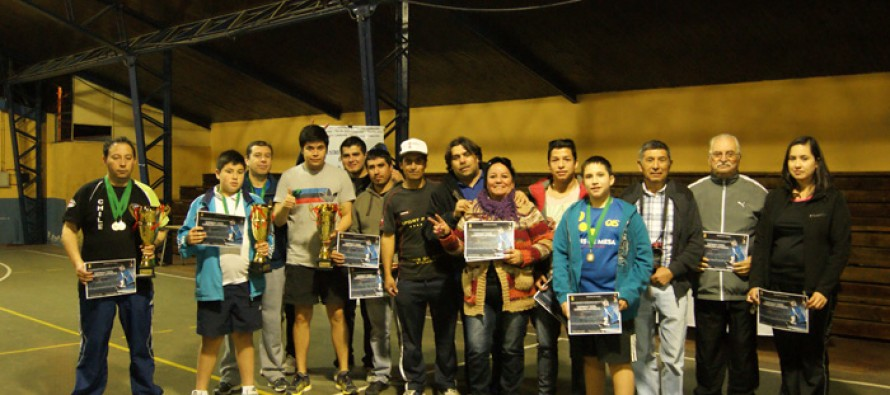 Campeonato Regional de Tenis de Mesa tuvo lugar en el Estadio Techado de Vicuña