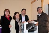 Vecinos de Villa La Gloria en Vicuña reciben implementación para su sede social