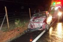 Tres personas lesionadas deja accidente en la ruta D-41 sector El Algarrobal