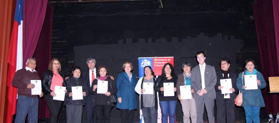 Un total de 74 familias de Vicuña recibieron subsidio para mejorar sus viviendas