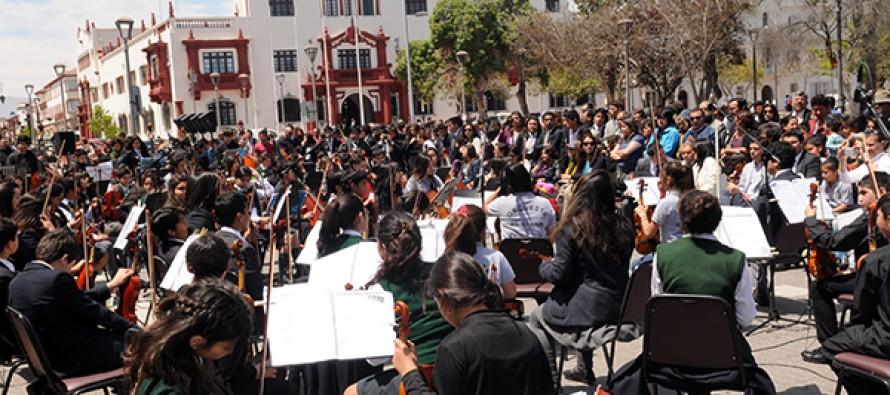 Orquesta de Niños del Valle del Elqui representó a Paihuano en 1er Encuentro de Orquestas Infantiles