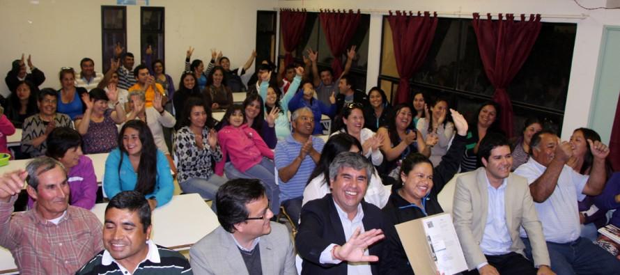66 familias de Gualliguaica cumplirán el sueño de la casa propia con traspaso de terreno