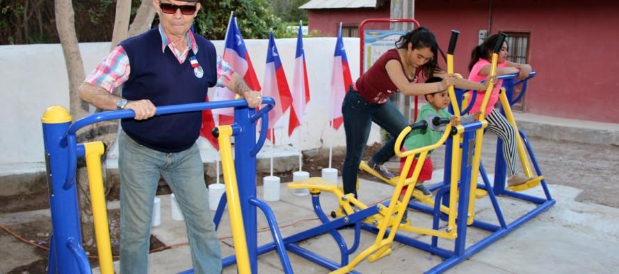 Incentivan la vida saludable y el deporte con gimnasios al aire libre en Varillar y San Isidro