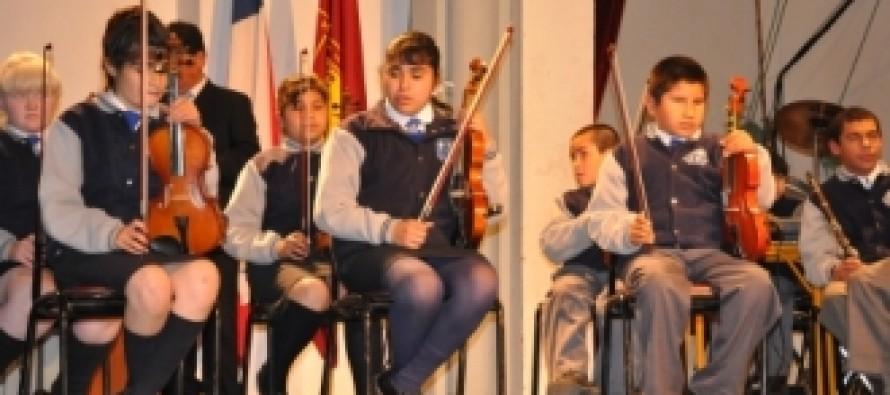 Orquesta de Niños Ciegos del Colegio «Luis Braille» de La Serena se presenta en MGM de Vicuña