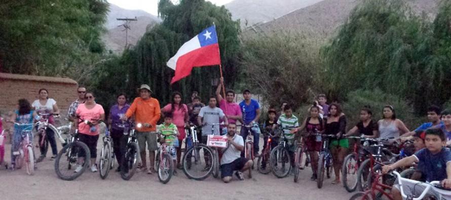 Realizan cicletada en Tres Cruces para reunir fondos para la  Teletón 2014